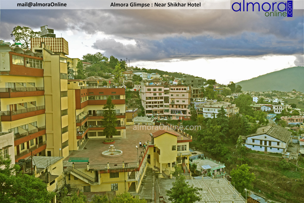 Almora on a cloudy day